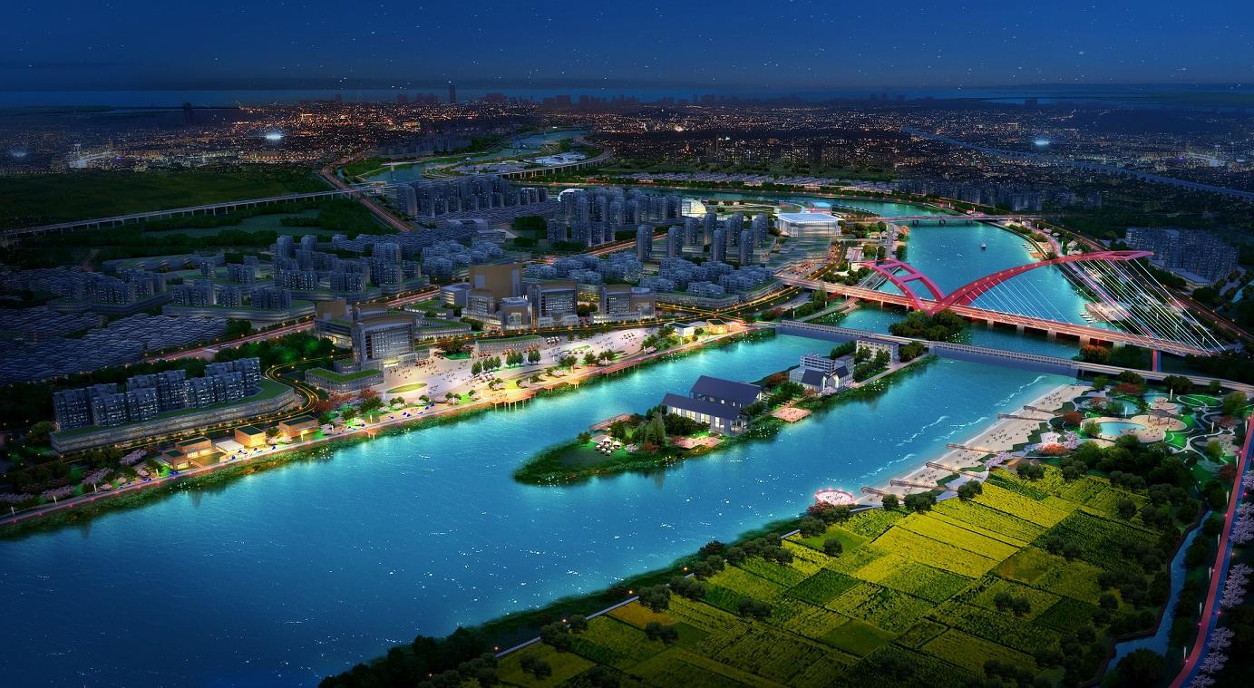 有风景的地方就有新经济:汕头市新津河中央水廊道公园群景观设计